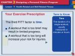 your exercise prescription10
