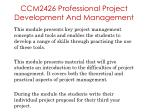 ccm2426 professional project development and management