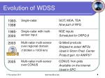 evolution of wdss