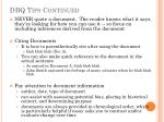 dbq tips continued