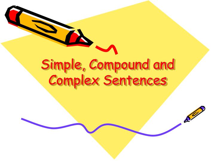 simple compound and complex sentences n.
