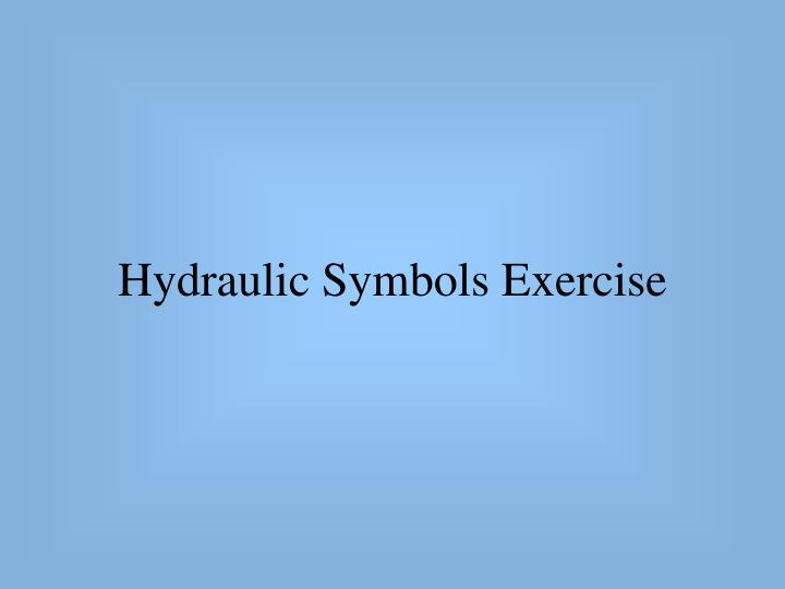 hydraulic symbols exercise n.