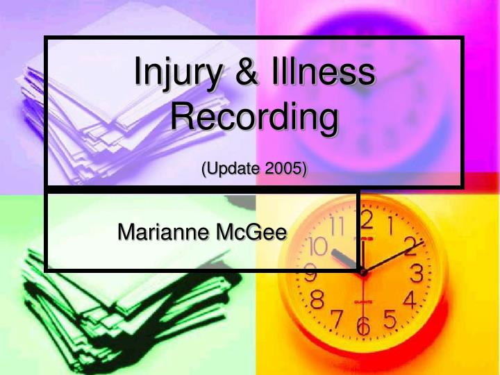 injury illness recording update 2005 n.