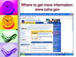 where to get more information www osha gov