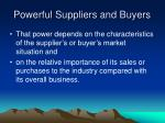 powerful suppliers and buyers1