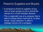 powerful suppliers and buyers2