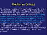 motility an gi tract