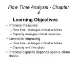 flow time analysis chapter 4