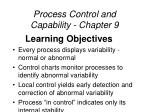 process control and capability chapter 9