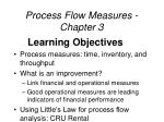 process flow measures chapter 3