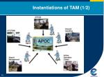 instantiations of tam 1 2