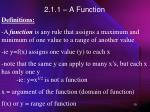 2 1 1 a function