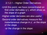 2 1 2 1 higher order derivatives