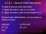 2 1 2 1 second order derivatives
