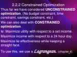 2 2 2 constrained optimization