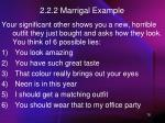 2 2 2 marrigal example