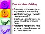 personal vision building