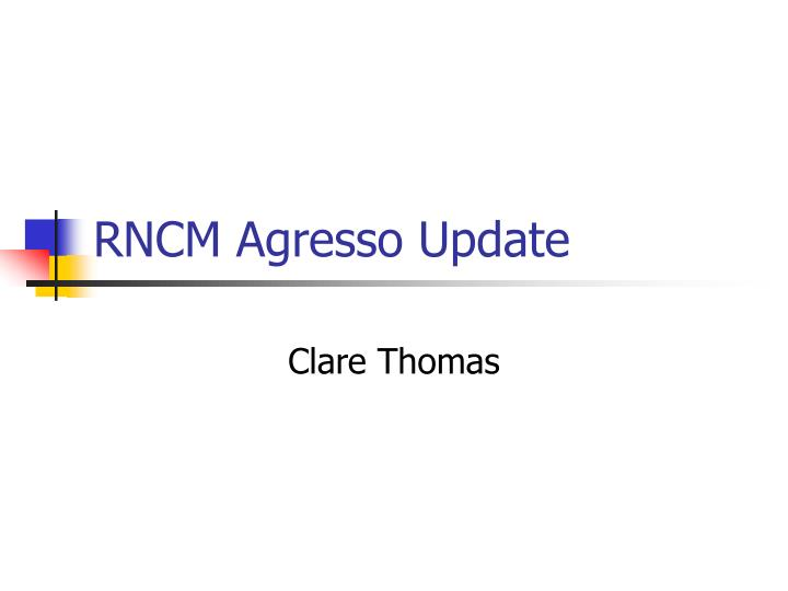 rncm agresso update n.