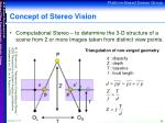 concept of stereo vision