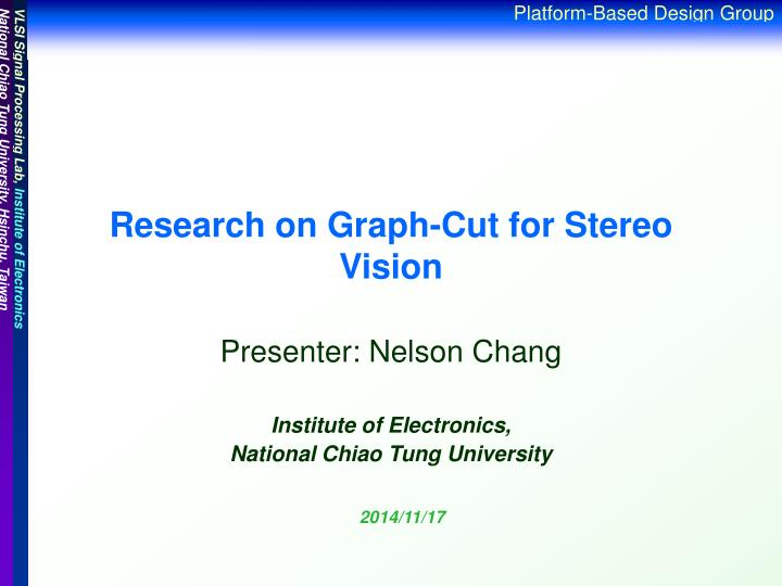 research on graph cut for stereo vision n.