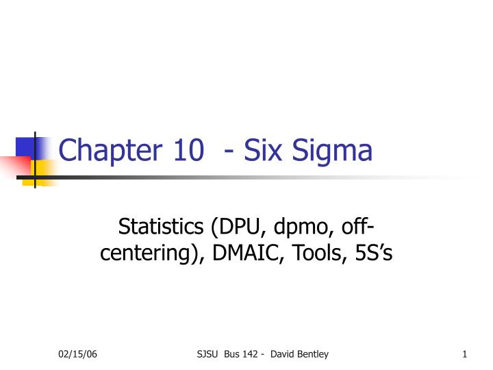 chapter 10 six sigma n.