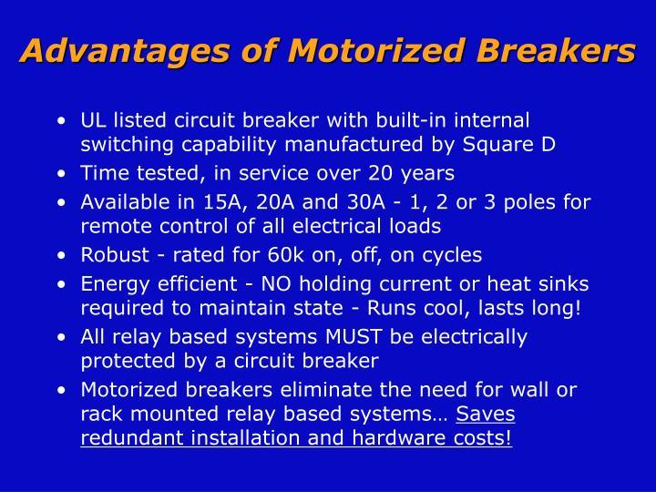 Advantages of motorized breakers