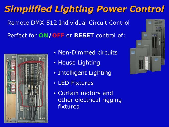 Simplified Lighting Power Control