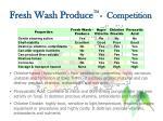 fresh wash produce tm competition