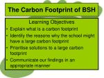 the carbon footprint of bsh1
