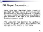 eia report preparation