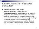 pakistan environmental protection act pepa 1997