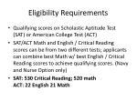 eligibility requirements8