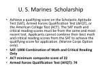 u s marines scholarship