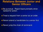 relations between junior and senior officers1