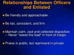 relationships between officers and enlisted1