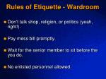 rules of etiquette wardroom1