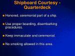 shipboard courtesy quarterdeck