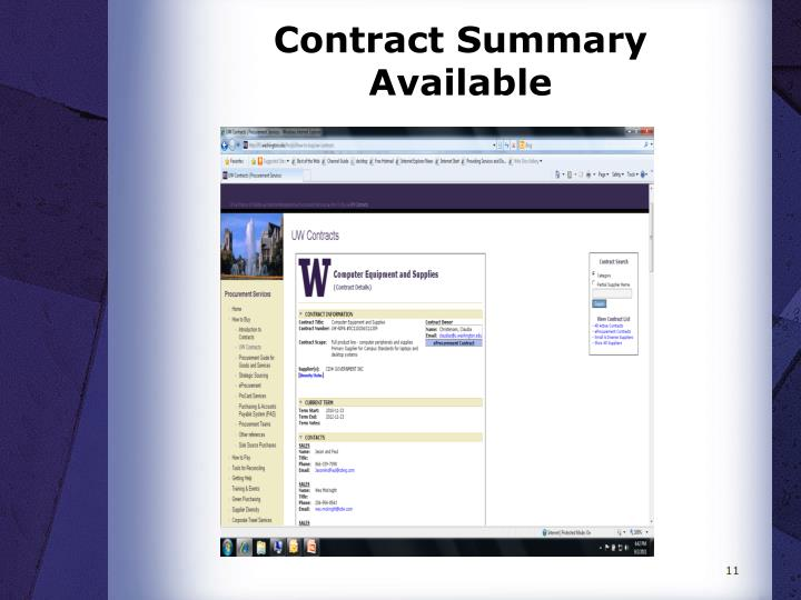 Contract Summary Available