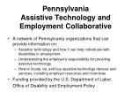 pennsylvania assistive technology and employment collaborative