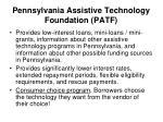 pennsylvania assistive technology foundation patf1