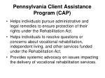 pennsylvania client assistance program cap1