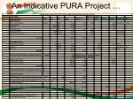 an indicative pura project