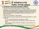 b initiatives in the public private sphere