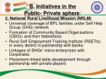 b initiatives in the public private sphere1