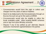 concession agreement 2