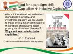 need for a paradigm shift financial capitalism inclusive capitalism