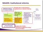 naads institutional reforms