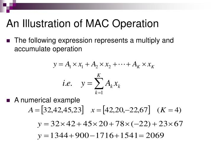 An Illustration of MAC Operation