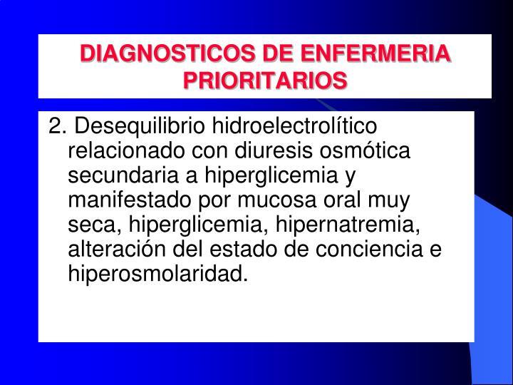 DIAGNOSTICOS DE ENFERMERIA PRIORITARIOS