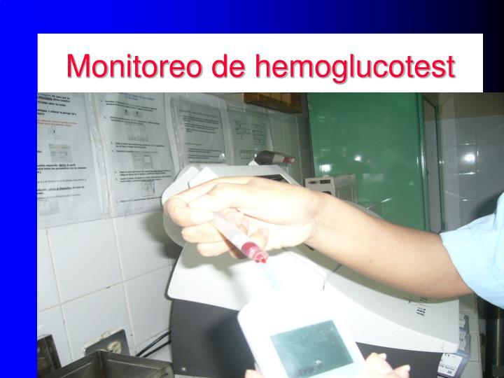 Monitoreo de hemoglucotest